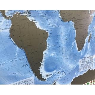 Настольная скретч-карта Мира