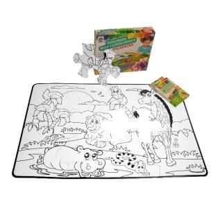 Игра головоломка раскраска с карандашами 18 элементов